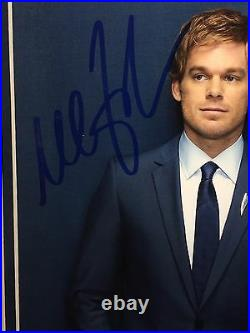 Michael C Hall DEXTER Signed 8x10 Framed With Prop. PSA/DNA Certificate