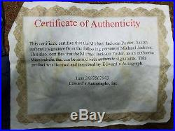 Michael Jackson Signed Autographed Photo Framed Bad With Certificate Of Authenti
