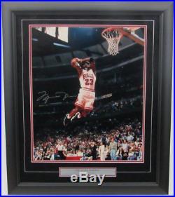 Michael Jordan Autographed/Signed/Framed 16x20 Photo UDA Upper Deck #ED 49/300