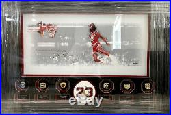 Michael Jordan Autographed Signed Framed 24x12 Photo Picture Basketball Uda Coa