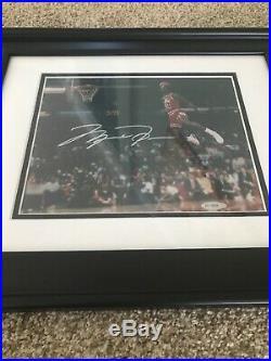 Michael Jordan Autographed Signed Framed Photo UDA Upper Deck 8x10