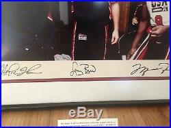 Michael Jordan Bird Magic UDA Upper Deck USA Signed Autograph Framed 16x20 Photo