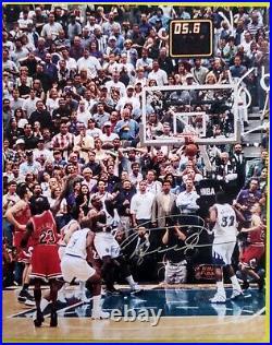 Michael Jordan/Chicago Bulls 8X10 Auto Signed Framed Photo WithCOA The Last Shot