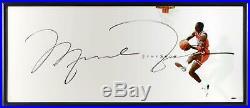 Michael Jordan Chicago Bulls Framed Signed 46 x 20 The Show Photo Upper Deck