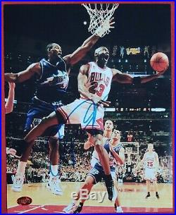 Michael Jordan Chicago Bulls Signed Framed Autographed 8x10 Photo with COA