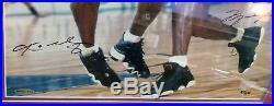 Michael Jordan / Kobe Bryant Signed Framed 16 x 20 UDA & LOA Global Authentics
