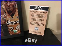 Michael Jordan & Kobe & Lebron James Autographed Signed NBA Photo A4 Framed COA