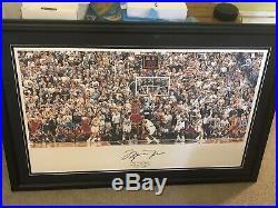 Michael Jordan Last Shot 36x22 Custom Framed. Uda Coa Bulls Signed Autographed