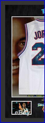 Michael Jordan SIGNED Framed Space Jam Jersey Beckett Authentication COA