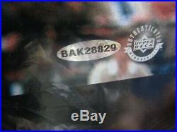 Michael Jordan Signed Auto Framed 21.5x26 Photograph Upper Deck Sticker Pc880