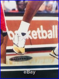 Michael Jordan Signed Autographed 8X10 Wizards Framed Photo COA UDA Upper Deck