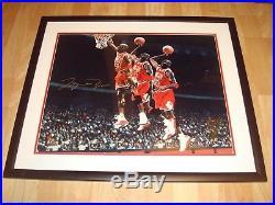 Michael Jordan Signed Chicago Bulls 16x20 Photo Framed UDA Upper Deck LE 223 1A