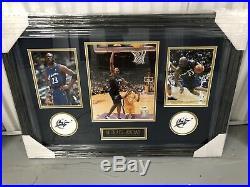 Michael Jordan Signed Custom Framed Chicago Bulls 8x10 Photo Wizards Psa/Dna
