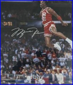 Michael Jordan Signed Dunk Contest Photo Framed 27x23 UDA Hologram AUTO