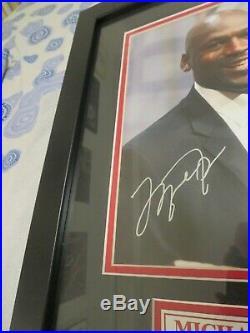 Michael Jordan Signed Framed 14x18 Photo, Upper Deck Coa, Lmt Ed # 3 Of 123 $$$$