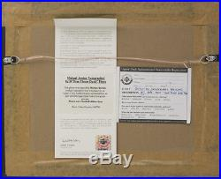 Michael Jordan Signed Framed Bulls 8x10 1988 Slam Dunk Contest Photo Upper Deck