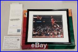 Michael Jordan Signed UDA Gatorade Dunk Contest 8x10 Photo Framed Autograph Auto