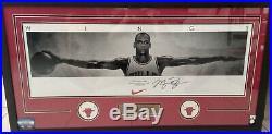 Michael Jordan Signed Wings Poster Rare Multiple COA Framed Glassed