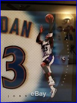 Michael Jordan signed framed picture Washignton Wizards/Chicago Bulls UDA COA