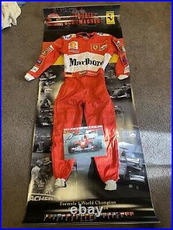 Michael Schumacher Signed Photo with racing suit and backdrop for framing COA