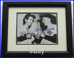 Mickey Mantle & Billy Martin Signed Framed 8x10 Photo PSA/DNA LOA #B97282