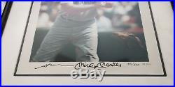 Mickey Mantle / Neil Leifer Signed and Framed 16x20 Upper Deck UDA #341/500