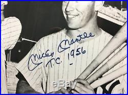Mickey Mantle Signed 16x20 Photo With TC 1956 Framed UDA Upper Deck Hologram