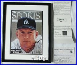 Mickey Mantle Signed Authentic Autographed Framed 8x10 Photo UDA