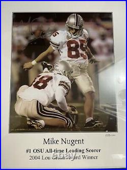 Mike Nugent Ohio State Buckeyes Autograph Framed Picture Limited Print #538/2004