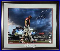 Mike Trout Angels signed 16x20 photo framed Citi Field autograph MLB Holo COA