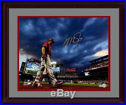 Mike Trout signed 16x20 photo framed gold autograph Steiner COA LE 24/27 Angels