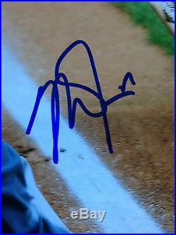 Mike Trouts Signed 11x14 photo framed MINT autograph 2X MVP 2016 JSA COA angels