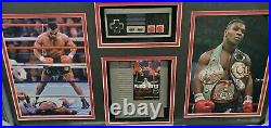 Mike Tyson Hand Signed Autographed Punch Out Photo With Game + controller Framed