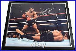 Mike Tyson SIGNED Framed Photo Autograph Huge display Boxing Sport AFTAL COA