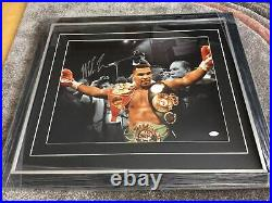 Mike Tyson Signed And Framed 20x16 Photo JSA Authenticated. AFTAL Coa