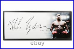 Mike Tyson Signed Autographed 20X46 Framed Photo The Show Huge Signature UDA