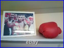 Mike Tyson Signed Boxing Glove PSA/DNA with Framed Photo