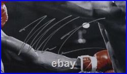 Mike Tyson Signed Framed 16x20 Spotlight Photo vs. Trevor Berbick JSA ITP