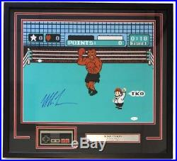 Mike Tyson Signed Framed Boxing 16x20 Punch Out Photo with Nintendo Controller JSA