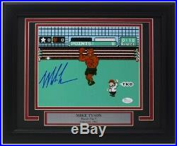 Mike Tyson Signed Framed Boxing 8x10 Punch Out Photo JSA