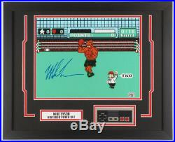 Mike Tyson Signed Punch-Out Framed Photo with Nintendo Controller! JSA COA 18x22