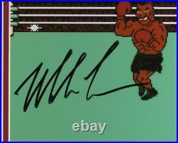 Mike Tyson Signed in Black 8x10 Framed Punch out Photo Controller JSA