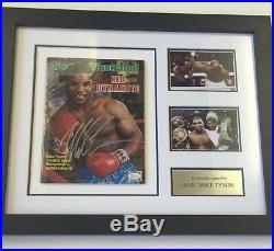 Mike Tyson WBC, WBA, IBF Champion Signed And Framed Sports Illustrated Magazine