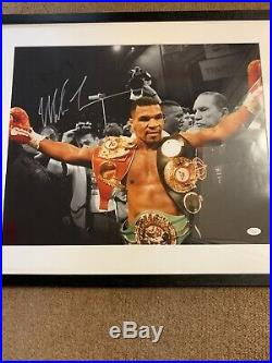 Mike tyson Hand signed Picture In Frame. Ready To Hang