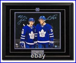 Mitch Marner Auston Matthews Maple Leafs 25x31 Dual Signed Frame #/100 100 Years