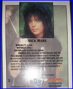 Motley Crue Framed Signed Autographed 4 Rock Card Photo Set + VIP pass pick COA