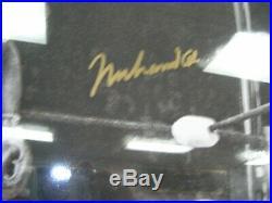 Muhammad Ali 16 X 20 Signed Gold Auto Jsa Certified Framed