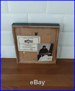 Muhammad Ali Authentic Signed Skipping rope in framed display coa & photo proof