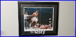 Muhammad Ali Auto Signed 16X20 Photo Standing Over Sonny Liston Framed Steiner