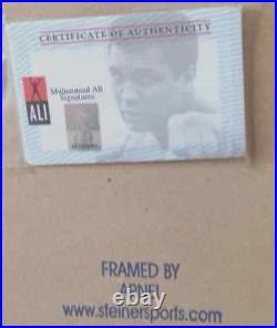 Muhammad Ali Signed Custom Framed 16 X 20 Ali & Liston- Steiner Sports COA